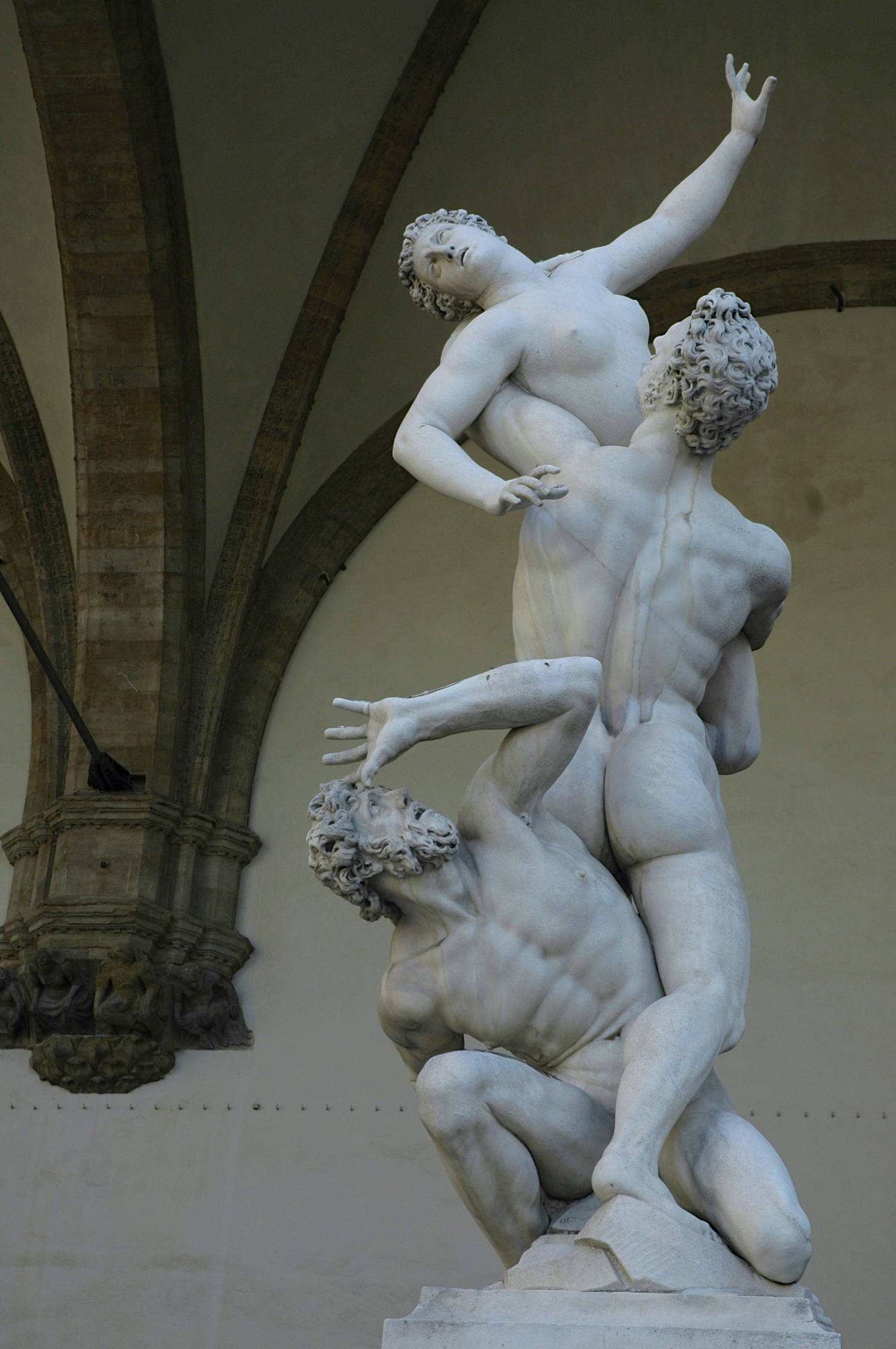Resultado de imagem para Estátua o Rapto das Sabinas