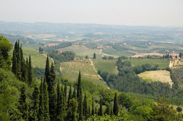 Os campos ondulados da Toscana