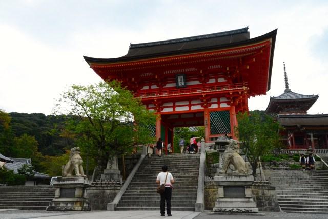 A entrada do Templo Kiyomizu-dera