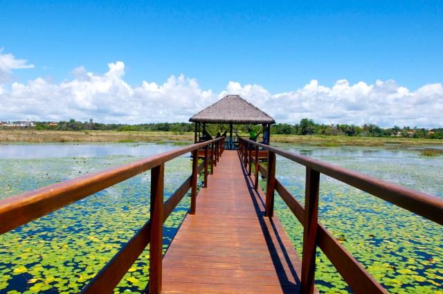 A lagoa de Guarajuba
