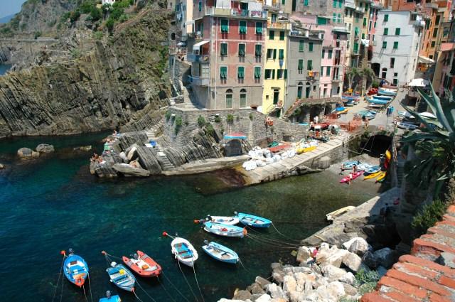 Barcos em Riomaggiore