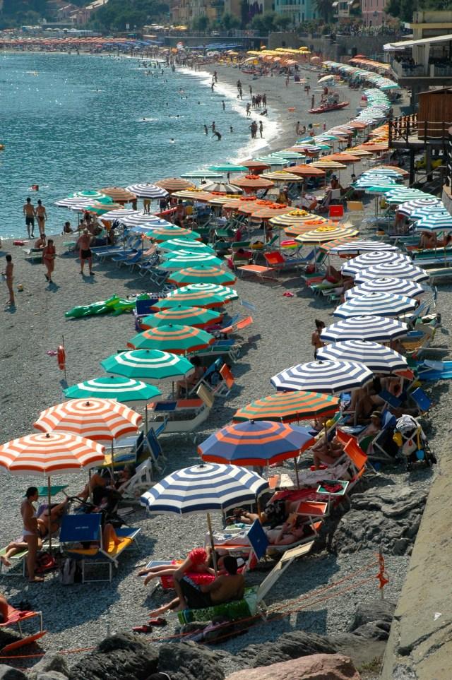 A praia de Santa Margherita Ligure