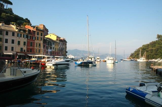 A enseada de Portofino.