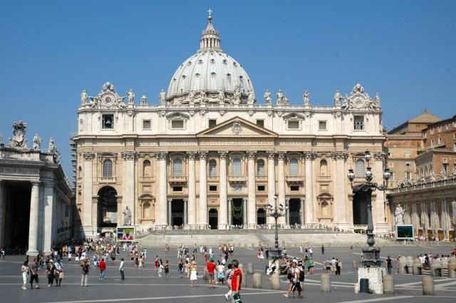 A Basílica de São Pedro.