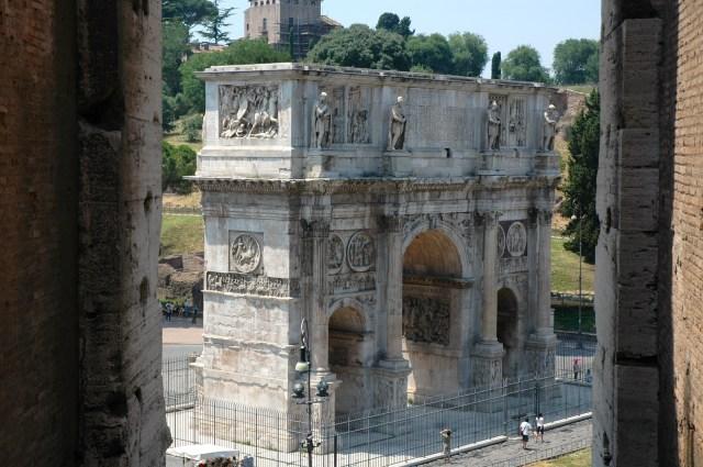 O Arco de Constantino.