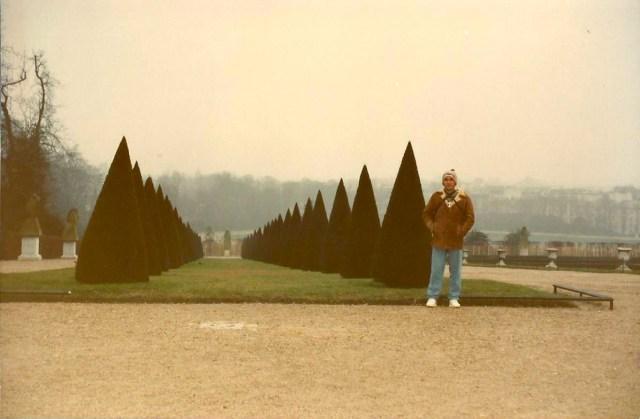 Detalhes dos Jardins de Versalhes.