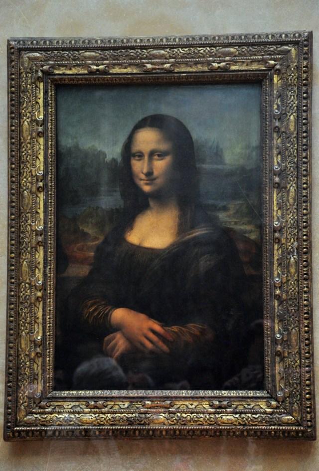 A Monalisa de Leonardo da Vinci.