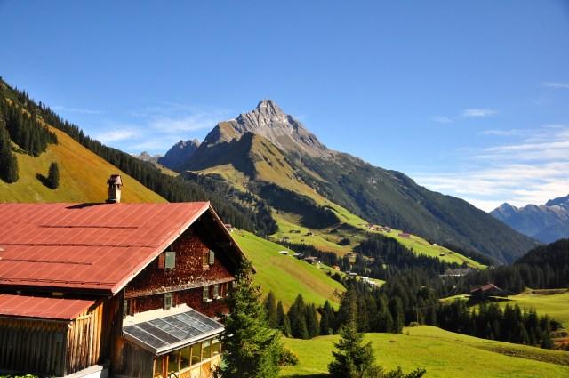 A paisagem da Áustria é encantadora.