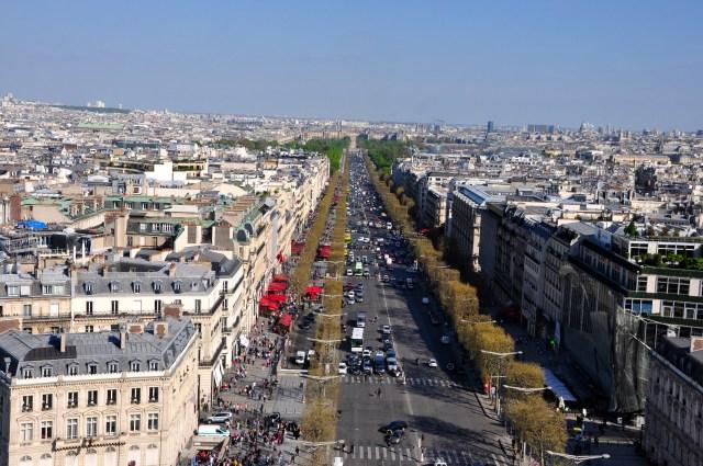 A Avenida de Champs-Elysées