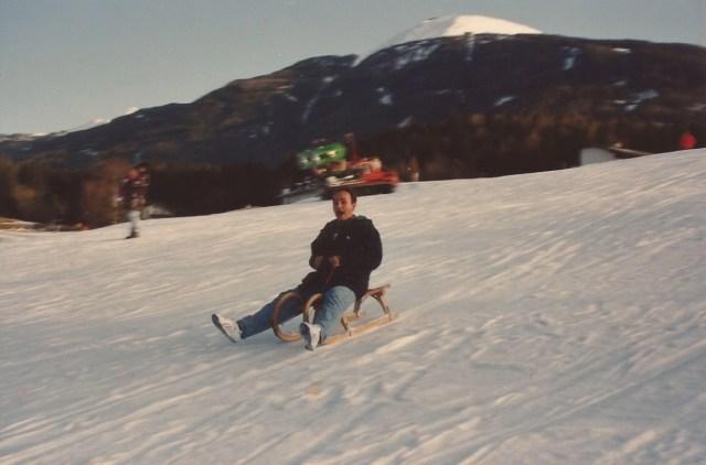 O trenó é mais fácil que o esqui.