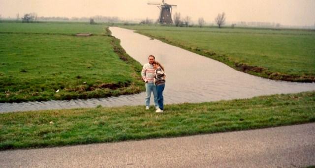 Os polderes holandeses com os seus moinhos.