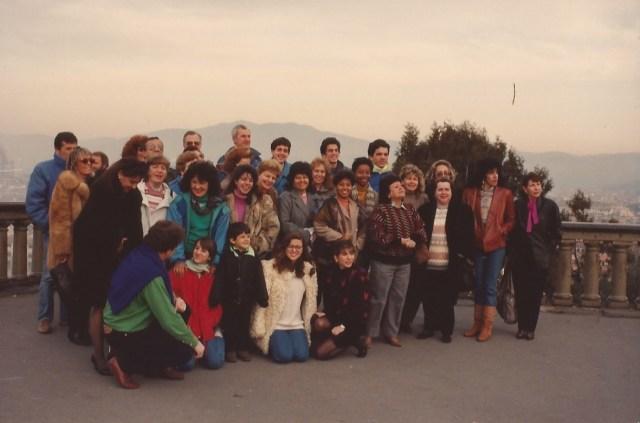 O nosso grupo na Praça Michelangelo