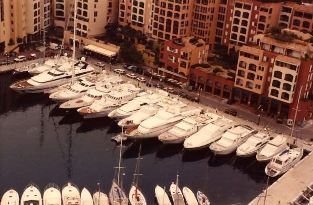 A Marina de Mônaco.