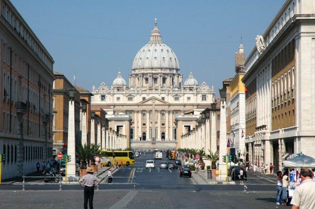 A Cidade do Vaticano.
