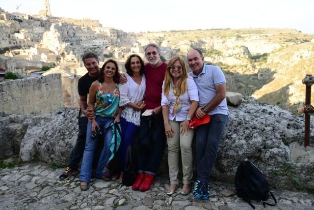 O grupo da viagem em Matera na Basilicata