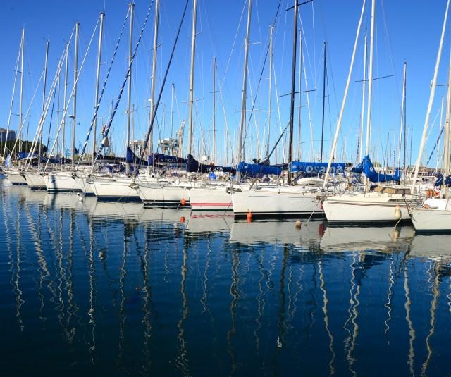 A marina de Palermo.