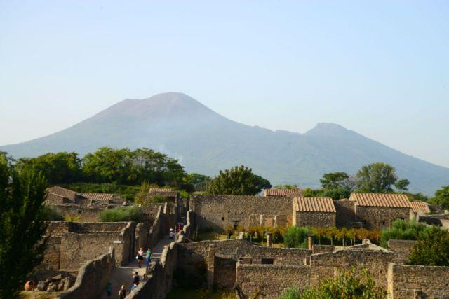 O vulcão Vesúvio