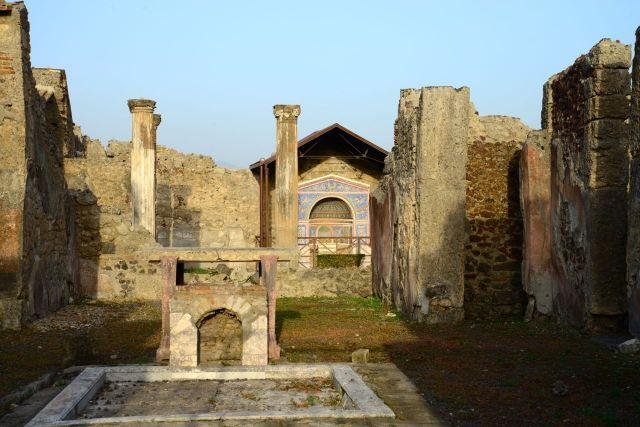 Algumas casas de Pompéia demonstram riqueza.