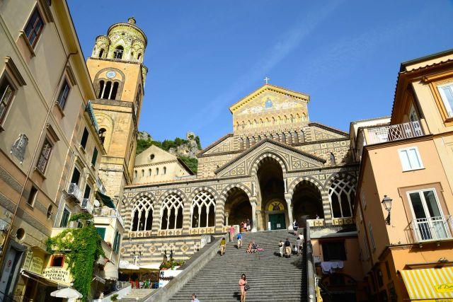 O maravilhoso Duomo de Sant'Ana em Amalfi.