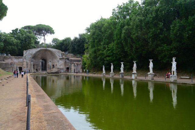 Os belos jardins da Villa Adriana inspiravam o Imperador arquiteto.