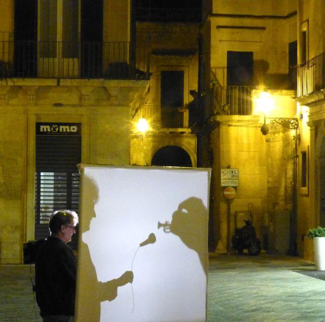 Artista de rua em Lecce.