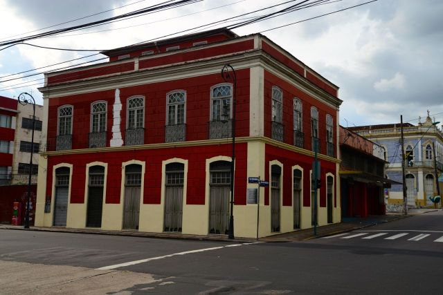 Casarão colonial no centro de Manaus.