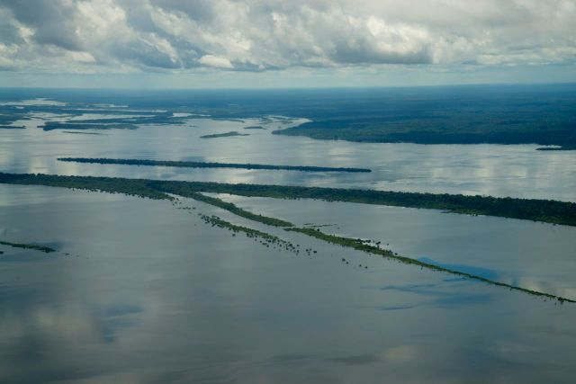 """A imensidão do """"Rio Mar""""."""