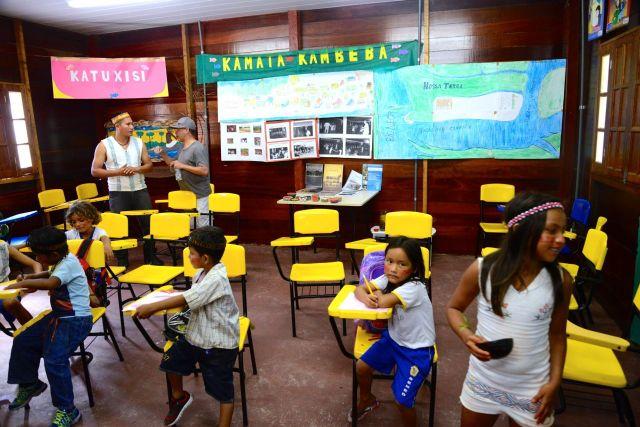 A escola municipal da Comunidade Indígena Kambeba