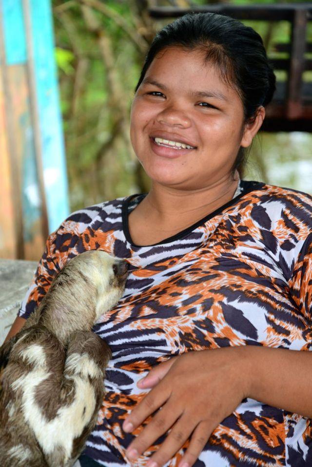 O bicho-preguiça de estimação.
