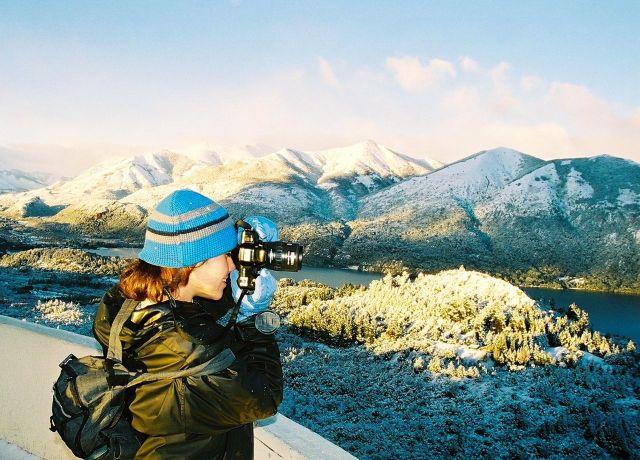 A paisagem é encantadora.
