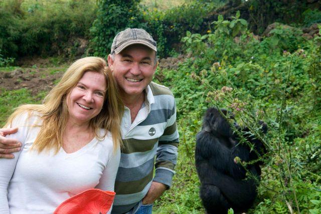 Foi muito bom estar lado a lado com os gorilas.
