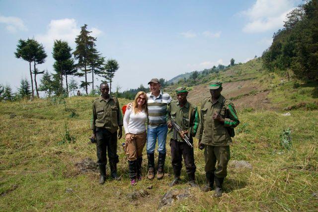 """Os """"trackers"""" que nos acompanharam na visita aos gorilas."""