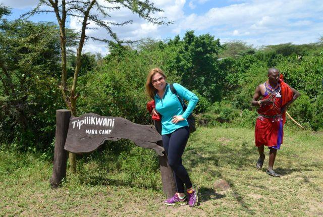 Chegando ao Tipilikwani Mara Camp