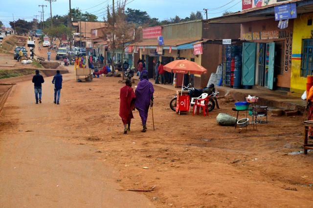 Os vilarejos nos arredores de Arusha.