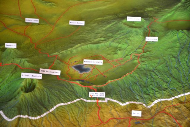 Maquete da Cratera do Ngorongoro.