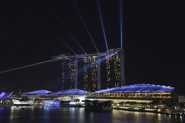 O Marina Bay Sands em Singapura.