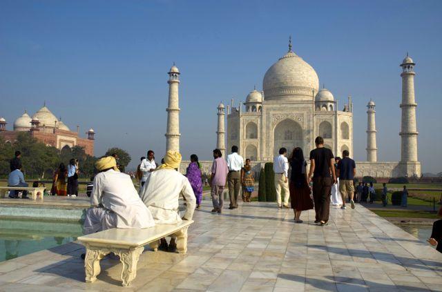O Taj Mahal na Índia.