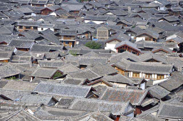 Telhados em Lijiang.