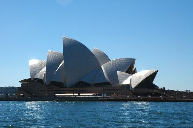 A Ópera House de Sydney.