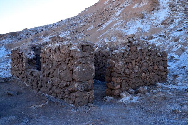 Ruínas de casa de minadores no Vale da Lua.