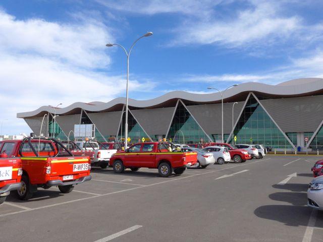O moderno Aeroporto de Calama.