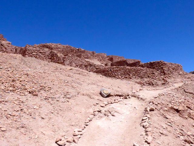 A Fortaleza pré-colombiana de Pukara de Quitor.