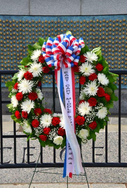 Homenagem às perdas da Segunda Guerra Mundial.