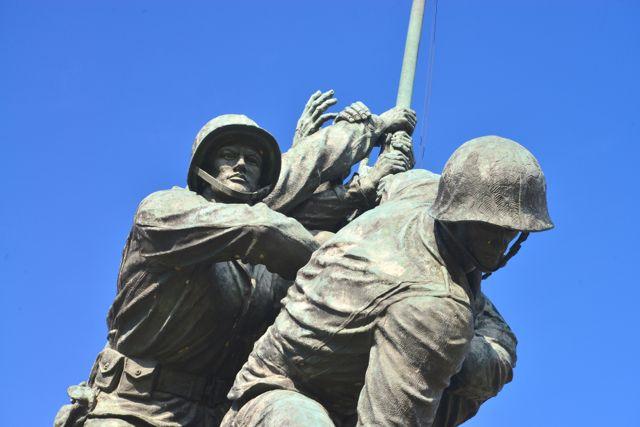 Detalhes do Memorial de Iwo Jima.