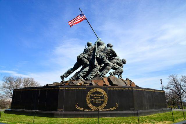 A estátua da foto de Joe Rosenthal