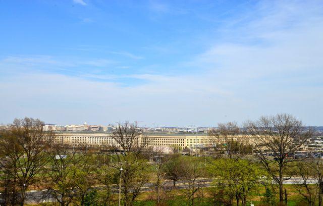 O prédio do Pentágono.
