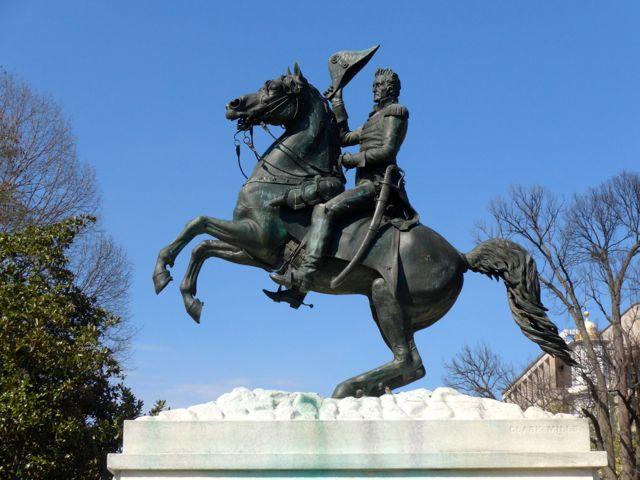 Estátua do Presidente Andrew Jackson