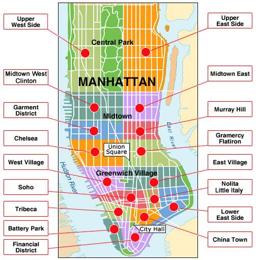 Mapa de Manhattan.