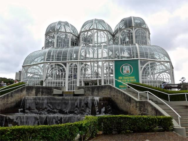 A estufa do Jardim Botânico.