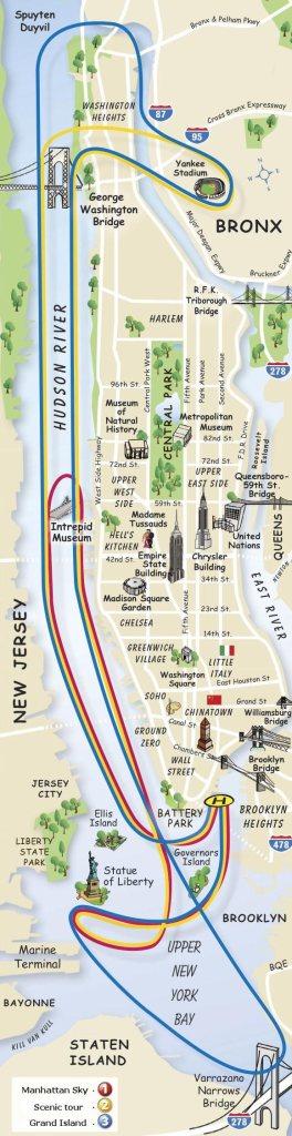 Os mapas dos passeios de helicóptero.